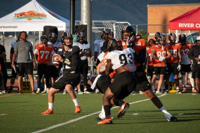 Sports photoshoot of BC Lions Training Camp