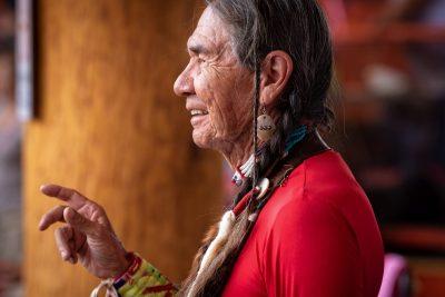 Portrait photoshoot at Kamloopa Powwow