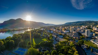 Commercial Aerial photoshoot of the City of Kamloops