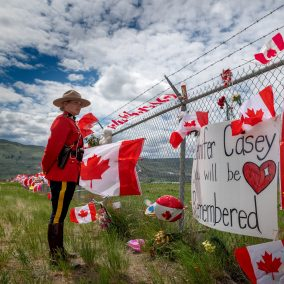 Tribute in Kamloops for Captain Jenn Casey of the RCAF Snowbirds