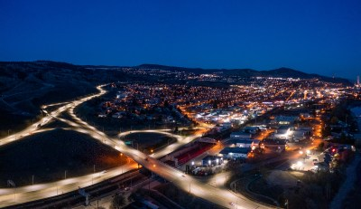 Commercial aerial photoshoot of Kamloops, BC