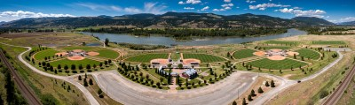 Aerial photoshoot of Kamloops Tournament Capital Ranch