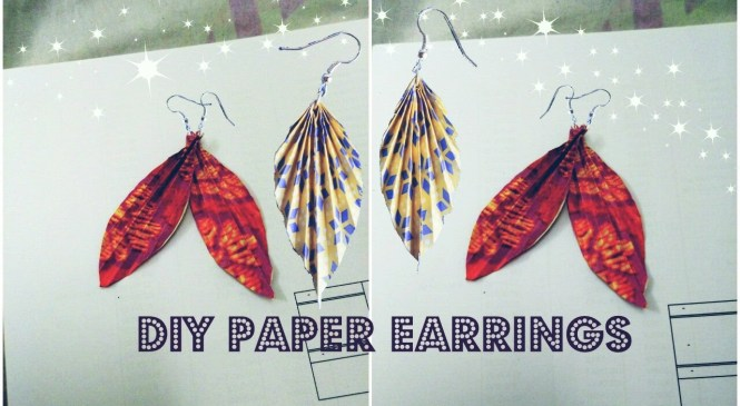 DIY Paper Earring | Origami Earrings✔Fashion | Accessories