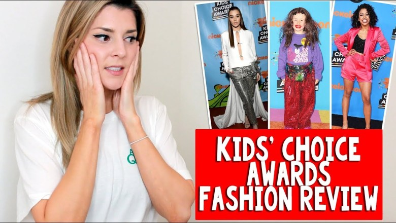 KIDS' CHOICE AWARDS FASHION REVIEW // Grace Helbig