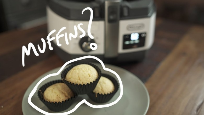 FRIED MUFFINS? (DeLonghi Multifryer UNBOXING + PRODUCT REVIEW)