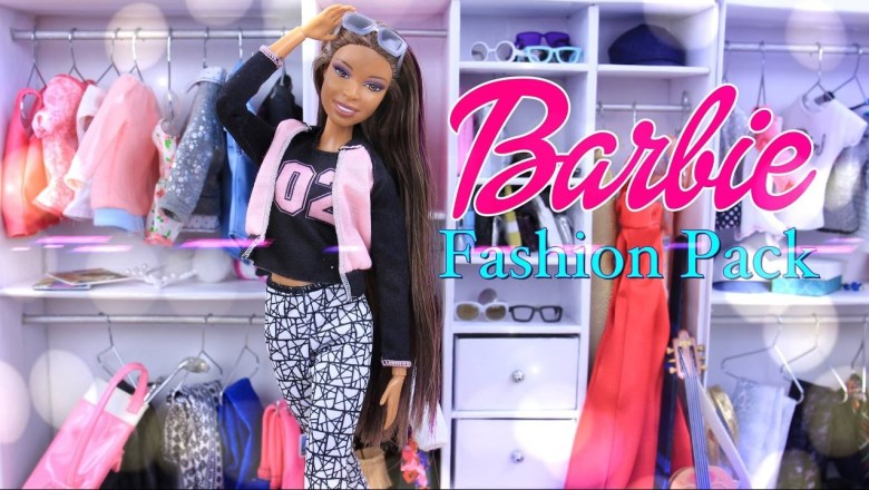 Unbox Daily:  Barbie Fashion Pack Doll Accessories – Clothing Haul – Review – 4K