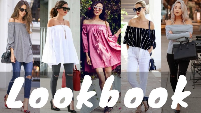 Latest Spring Off-Shoulder Dresses Outfit Ideas Fashion Trend 2018 | Spring Lookbook