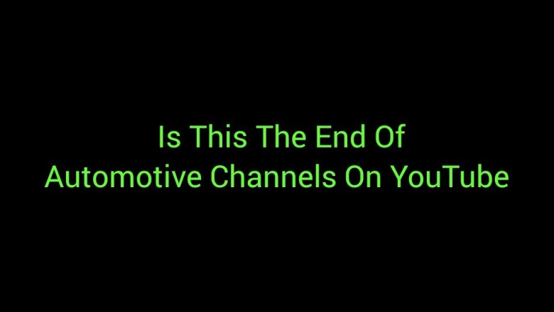 Is This The End Of Automotive Channels On YouTube Bodgit And Leggit Garage