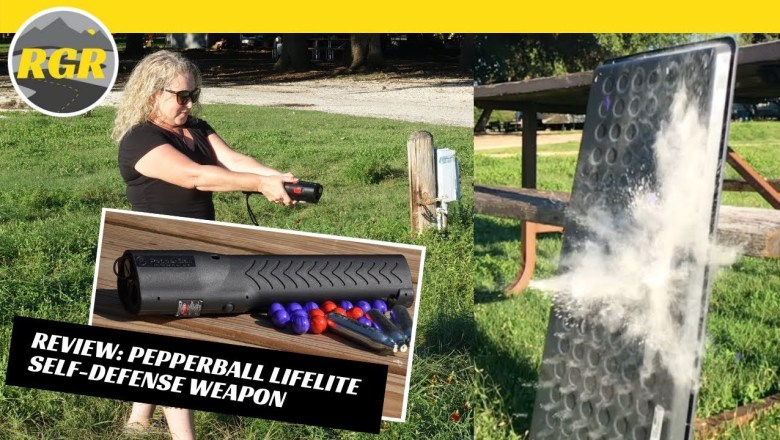 Pepperball Lifelite Self Defense Weapon | Product Review | Pepperball Launcher, Flashlight & Laser