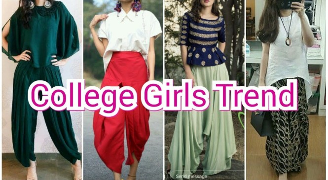 Latest College girls Fashion trend (Summer outfit) || Dhoti pant/ Palazzo pant with top ||