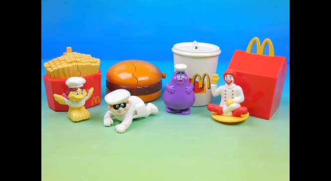 1999 McDONALDS McCHEF SET OF 4 HAPPY MEAL KIDS TOYS VIDEO REVIEW