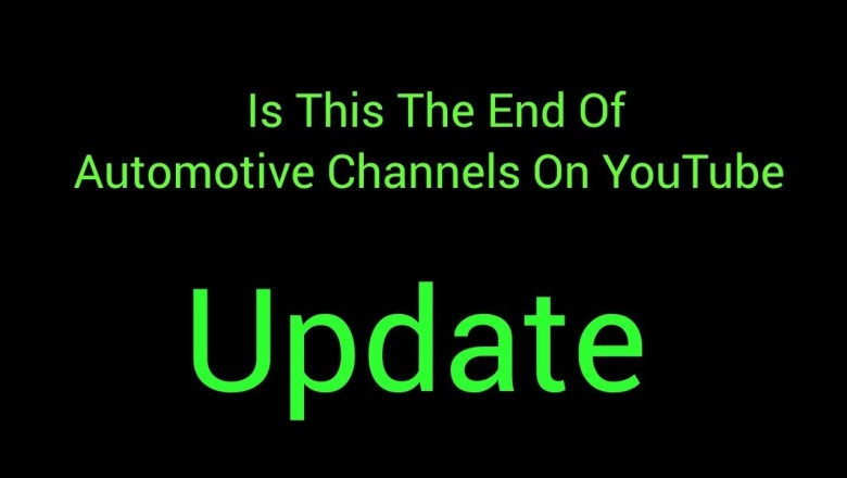 Is This The End Of Automotive Channels On YouTube Update