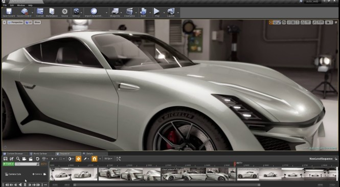 Unreal Studio Automotive render v2