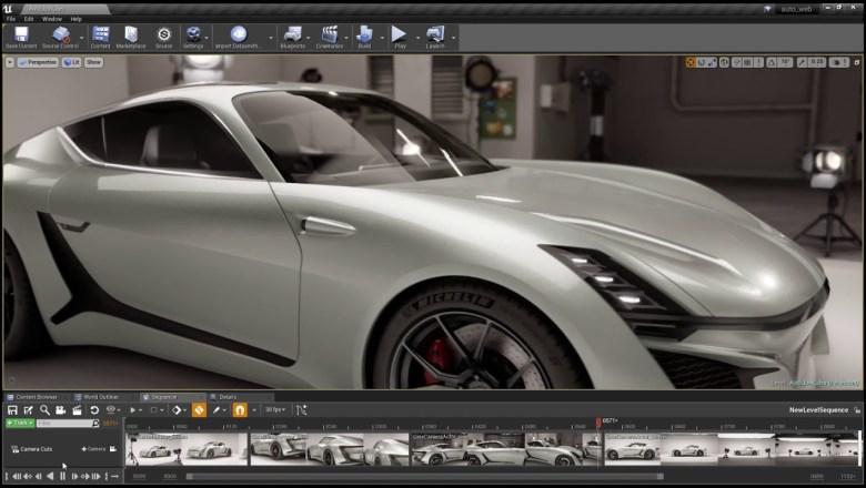 Unreal Studio Automotive render v2