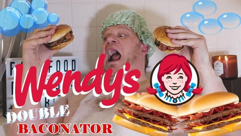 Wendy's ☆DOUBLE BUBBLEBATH BACONATOR☆ Bath Bombs & Big Bites FOOD REVIEW!!!
