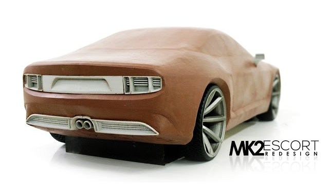 Automotive Clay Modelling Process- Mk2 Ford Escort Redesign