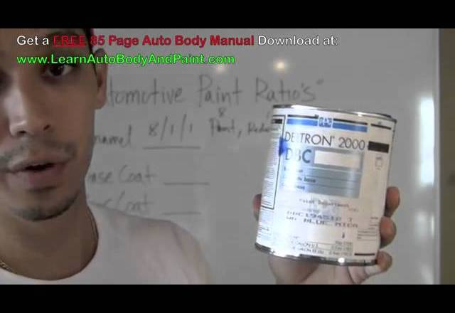 Automotive Paint Mixing Ratios – How To Mix Auto Paint – Mixing Car Paint