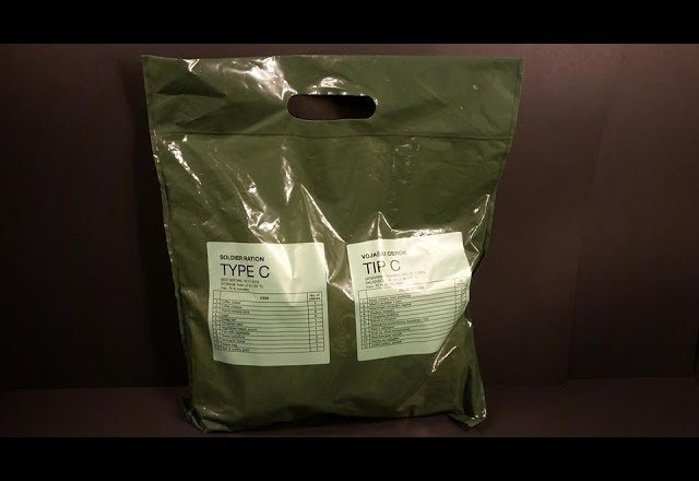 2017 Slovenian Soldier Ration Type C MRE Review Meal Ready to Eat Taste Testing