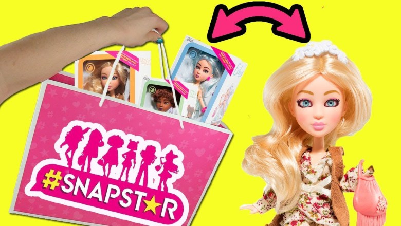 Snapstar Dolls and Fashion Packs Opening and Review by YULU + Studio App