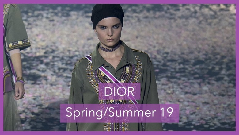 A 60 Second ⏱ Fashion Review of the Dior SS19 show
