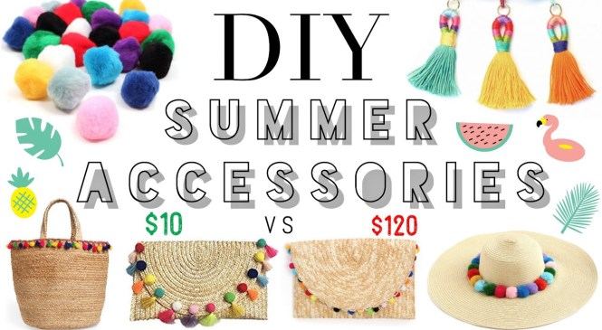 DIY SUMMER FASHION HACKS | easy affordable trendy summer accessories | taylor bee