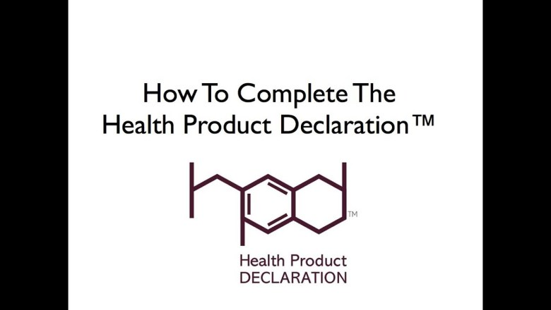 HPD: How To Complete The Health Product Declaration™