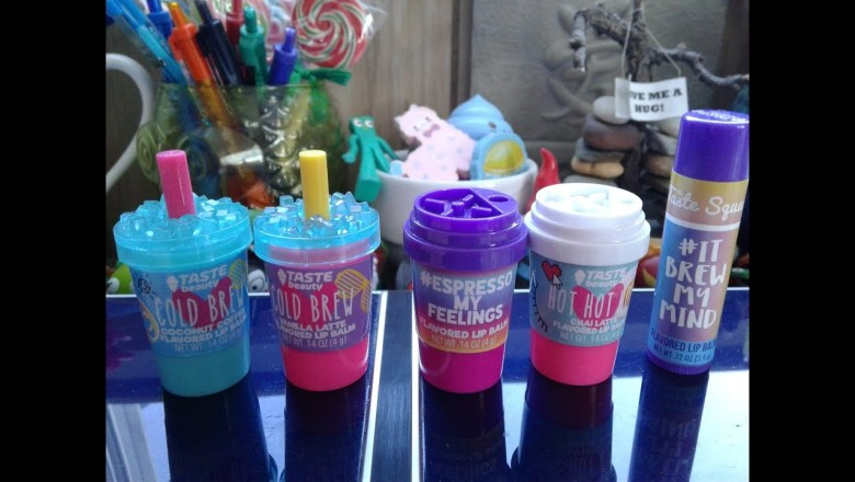 Taste Beauty Beverage Lip Balm First Impressions and Review