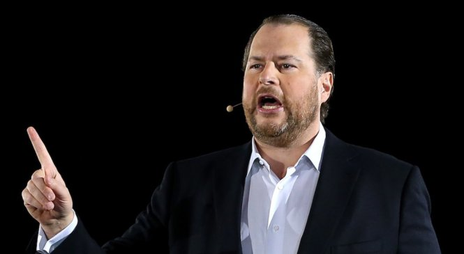 Marc Benioff says Salesforce won't buy a company unless it pays women fairly and employees like working there (CRM)