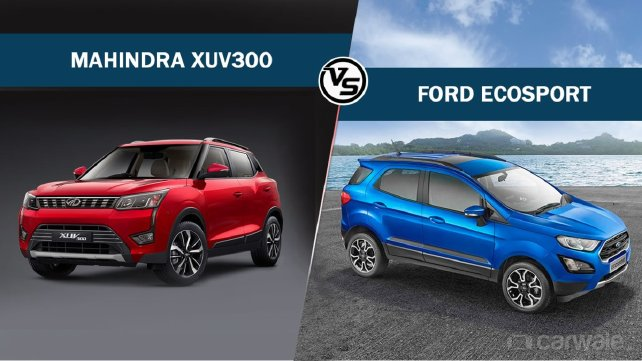Spec Comparison – Mahindra XUV300 Vs Ford EcoSport – CarWale – CarWale
