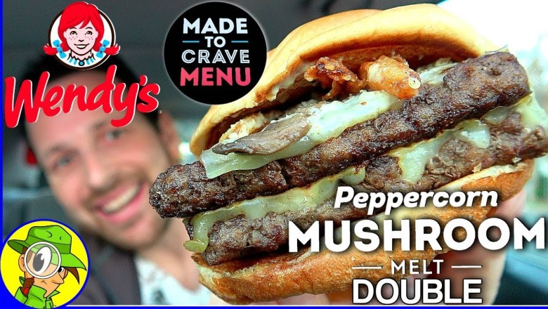 Wendy's® | Peppercorn Mushroom Melt DOUBLE | Food Review! 👧🍄🍔