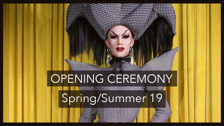 A 60 Second ⏱Fashion Review of the Opening Ceremony SS19 show