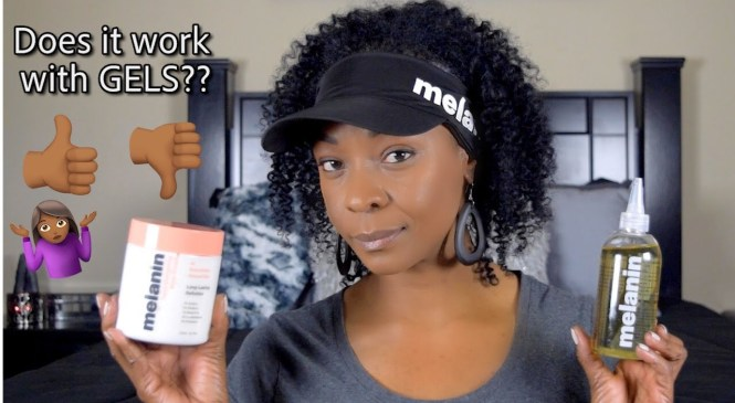 Melanin Hair Care Product Review | Does It Work With Gels? | DEMO | SimplyDivineCurls