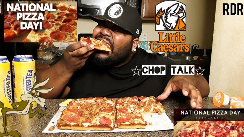 National Pizza Day! Little Ceasar Pizza Mukbang!!!