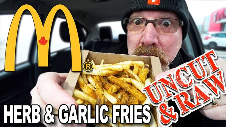 """🌿🍟 McDonald's Herb & Garlic Fries 🍟 Food Review """"UNCUT & RAW!"""" (YES! it's UNEDITED FOOTAGE!)"""