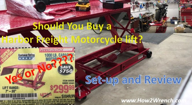 Product Review: Harbor Freight Motorcycle Lift 68892 69904 Would I buy it again? Is  it worth it