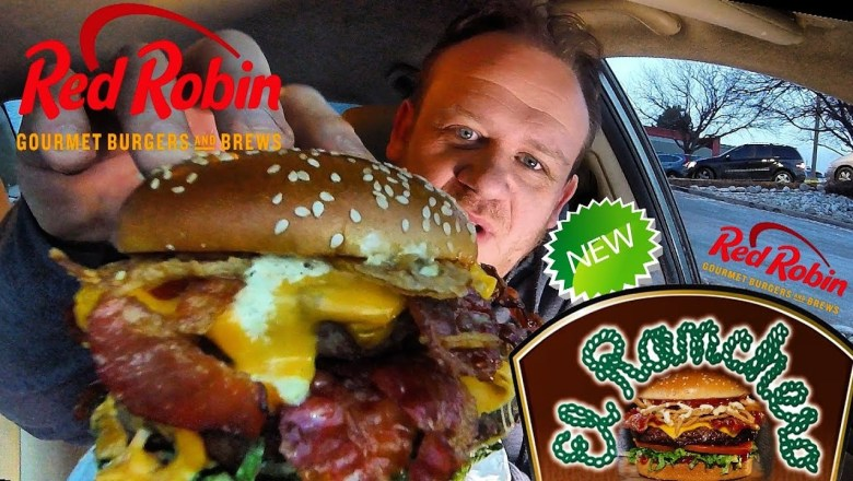 RED ROBIN New! ☆1-POUND EL RANCHERO BURGER☆ Food Review!!!