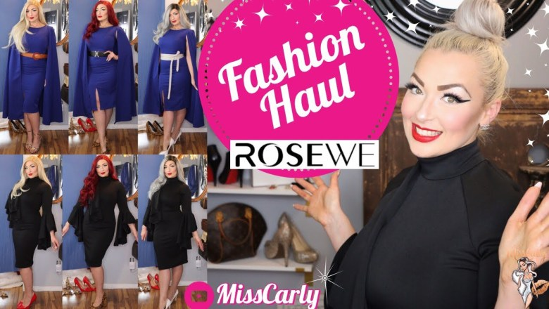 ✨👗RoseWe Review & HAUL 👗✨ Fashion  REVIEW – With WIGS! WOW!