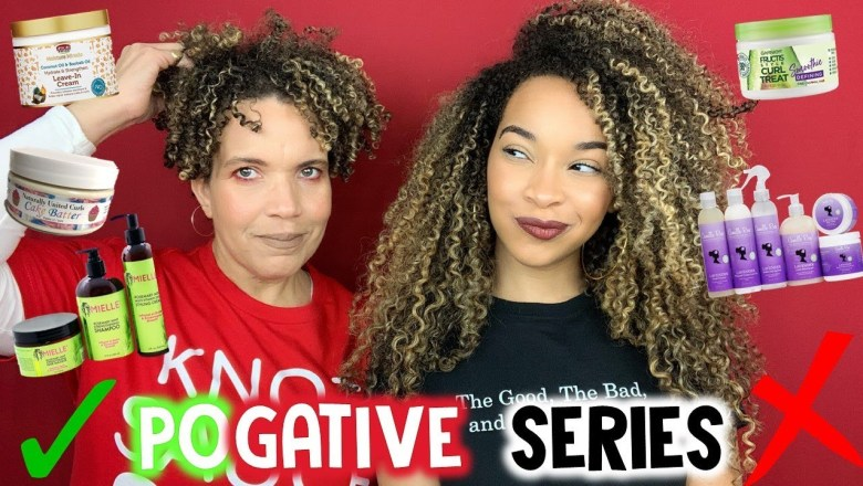 POGATIVE SERIES | Natural Hair Products Review | African Pride, Naturally United Curls & More