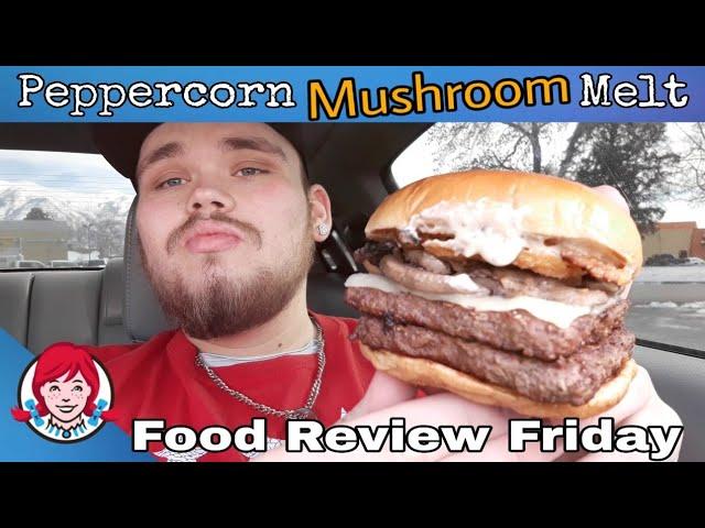Wendys NEW Peppercorn Mushroom Melt Food Review!