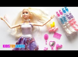 Unboxing Princess Barbie Doll Makeup kit And fashion Accessories | Kids Toy Lands