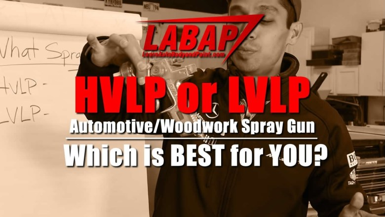 HVLP or LVLP Automotive/Woodwork Spray Gun – Which is BEST for YOU?