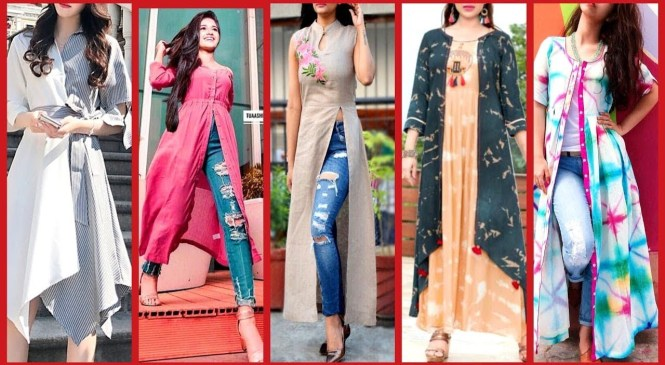 Stylish Gown Style Open Shirts Designs 2018 2019  latest fashion trends