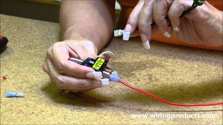 LED Toggle Switch for automotive use with Wiring Products