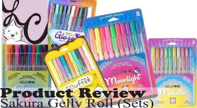 Art Supply/Product Review, Sakura Gelly Roll Sets (+3 Demos)