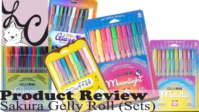 Art Supply/Product Review, Sakura Gelly Roll Sets (+3 Demos)