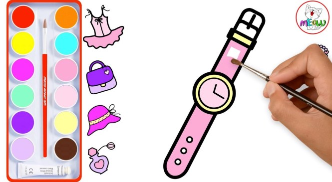 Drawing and Coloring (8 Girls Fashion Accessories) for Kids, Toddlers  | Meow Meow Art