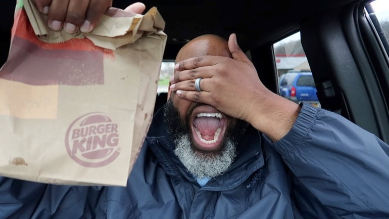 Letting The Person in Front of Me DECIDE What I Review at Burger King! (Impossible Food Challenge)