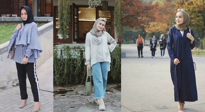 Koleksi Fashion Hijab Remaja 2019 Yang Lagi Trend  #15