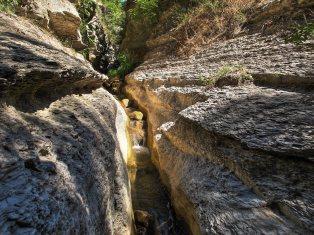 Un canyon, perfetto per rinfrescarsi.