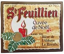 St Feuillienin jouluoluen etiketti alkuvuosilta.